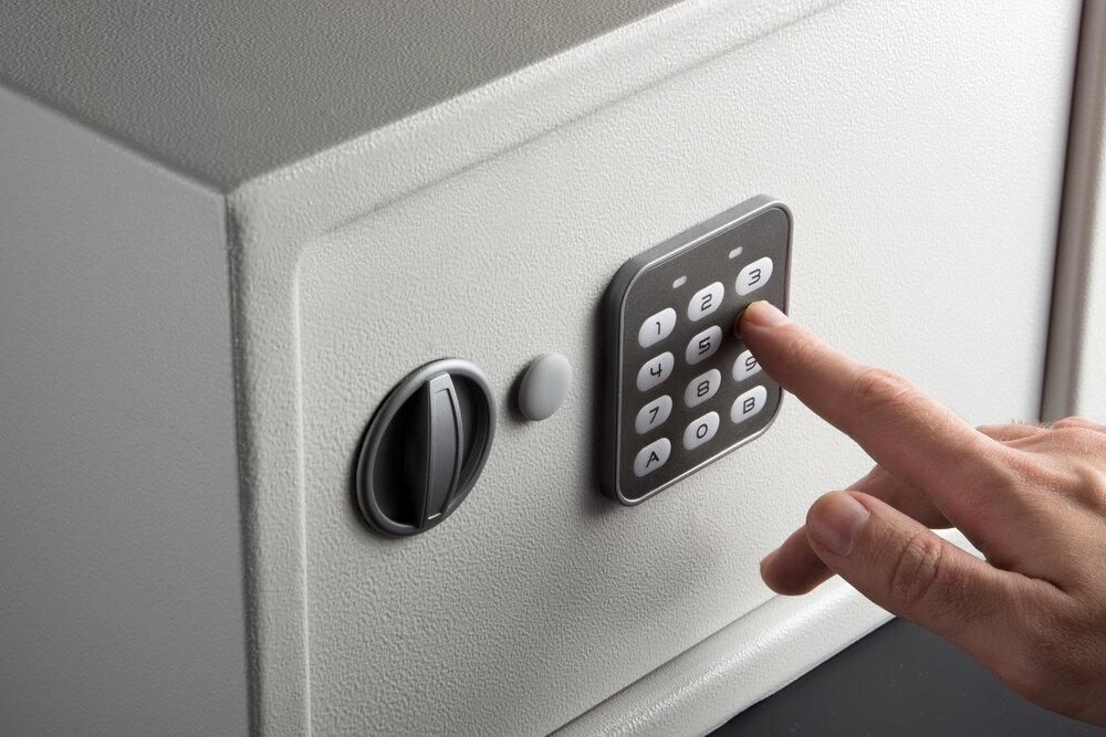 locked safe